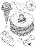 Croquis de dessert Image stock