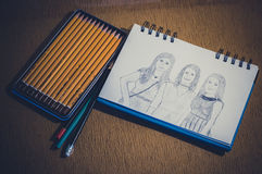 Croquis de dessin Image stock