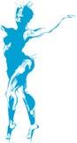 Croquis de femme nue illustration de vecteur