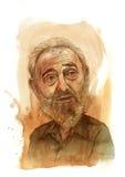 Croquis de Fidel Castro Photo stock