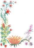 Croquis de fleurs d'aquarelles Image libre de droits