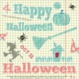 Croquis de Halloween Photos libres de droits