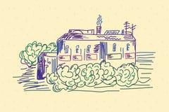 Croquis de la maison Image stock
