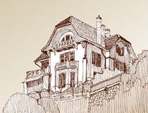 Croquis de la maison illustration stock
