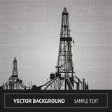 Croquis de la plate-forme pétrolière Images stock