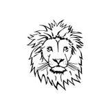 Croquis de Lion Head Vector photographie stock libre de droits