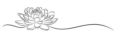 Croquis de Lotus illustration libre de droits
