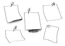 Croquis de papiers de note Photographie stock libre de droits