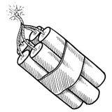 Croquis de paquet de dynamite Image stock