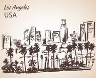 Croquis de paysage urbain de Los Angeles Images libres de droits