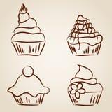 Croquis de petit gâteau illustration libre de droits