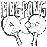 Croquis de ping-pong Photographie stock libre de droits
