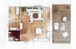Croquis de plan d'étage Photo libre de droits