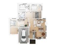 Croquis de plan d'étage Photos stock