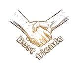 Croquis de poignée de main Conception de jour d'amitié Illustration de vecteur illustration de vecteur