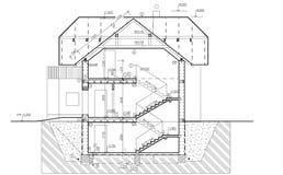 Croquis de professionnel de construction Photographie stock