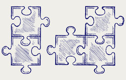Croquis de puzzle Images stock