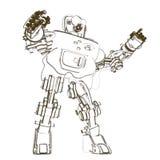 Croquis de robot de humanoïde Images stock