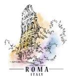 Croquis de Roma illustration de vecteur