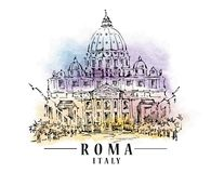 Croquis de Roma illustration libre de droits