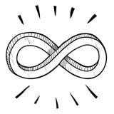 Croquis de symbole d'infini Image stock