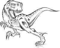Croquis de T-Rex de dinosaure Photo stock
