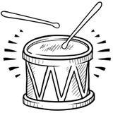 Croquis de tambour Images libres de droits