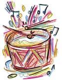 Croquis de tambour illustration de vecteur