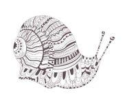 Croquis de tatouage Escargot Photo stock