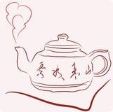 Croquis de théière chinoise Images stock