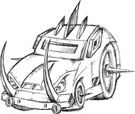 Croquis de véhicule de véhicule blindé Images libres de droits