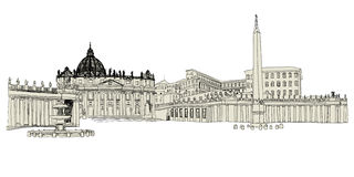 Croquis de Vatican Photos stock