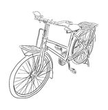 Croquis de vecteur de bicyclette Photographie stock libre de droits