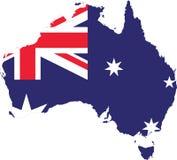 Croquis de vecteur de carte de drapeau d'Australie  illustration de vecteur