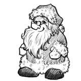 Croquis de vecteur de Santa Claus Noël Photo stock