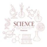 Croquis de vintage de la Science Image libre de droits