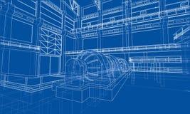 Croquis de zone industrielle Vecteur illustration de vecteur