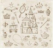 Croquis des accessoires de princesse Photos stock
