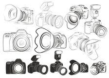 Croquis des appareils-photo illustration libre de droits