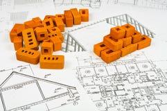 Croquis des constructions Images stock