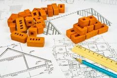 Croquis des constructions Image stock