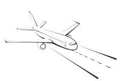 Croquis du grand avion Photo libre de droits