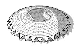 Croquis du nouveau stade en Samara illustration stock