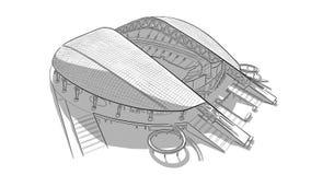 Croquis du stade principal à Sotchi Image libre de droits