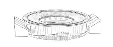 Croquis du stade principal dans Ekaterinburg Photos libres de droits