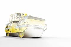 Croquis et construction de rouleau de route Photographie stock