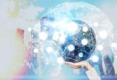 Croquis et globes de mise en réseau Image libre de droits
