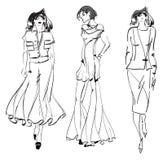 CROQUIS. fille de mode. Photographie stock libre de droits