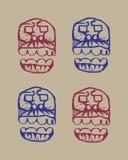 Croquis humain de crânes Image libre de droits