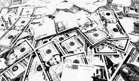 Croquis noir et blanc des dollars de fond euro photographie stock